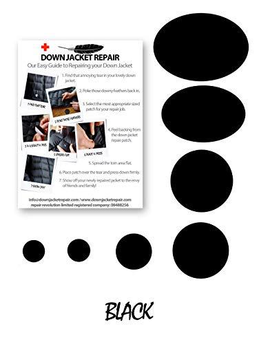 """Daunenjacke """"Erste Hilfe"""" Reparaturset (schwarze Farbe)"""