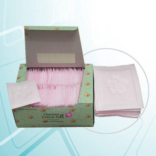 SoonSom Korea Lot de 100 carrés en coton en relief, réalisés en 100 % coton naturel