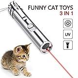 Danigrefinb - Puntatore interattivo per gatti e animali domestici, ricaricabile, con luce LED rossa,...