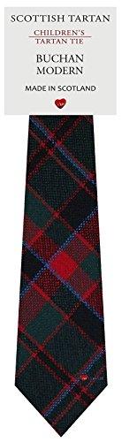 I Luv Ltd Garçon Tout Cravate en Laine Tissé et Fabriqué en Ecosse à Buchan Modern Tartan