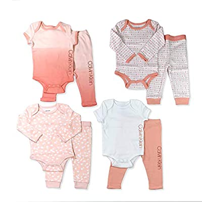 Calvin Klein Newborn Infant Girls' Layette 15, Pink-8 Piece Set, 12-18M