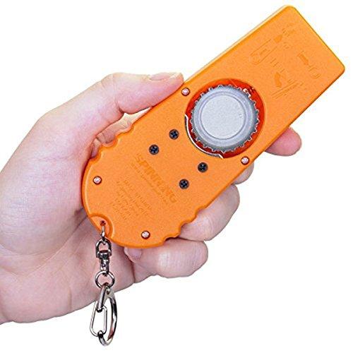 PIXNOR Zappa - Abridor lanzador de chapas para botellas, color naranja