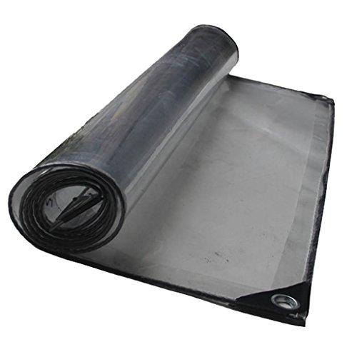 QDY-Tarps - Lona transparente resistente al agua, cubierta de lona de poliéster resistente a la corrosión, resistente a los rayos UV, refugio de tiend