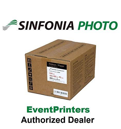 SINFONIA CS2 Media Size 4X6 - Paper & Ribbon - 600 Prints use Sinfonia Color Stream CS2 Printer Free Samples Our Photo folders (Eventprinters Brand).