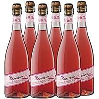 Monteberin Lambrusco Rosado - 6 Botellas de 750 ml - Total: 4500 ml