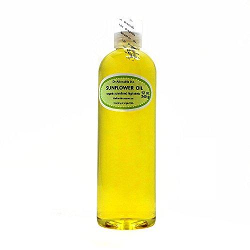 Aceite de girasol sin refinar 100% puro orgánico 12 onzas
