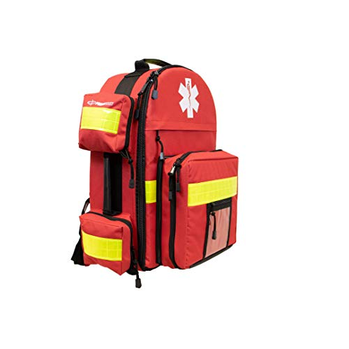 Primacare KP-4183 Trauma Emergency Medical Supplies Tactical Trauma Back Pack Bag for Holding O2 Tank, 17x6x19 Inches