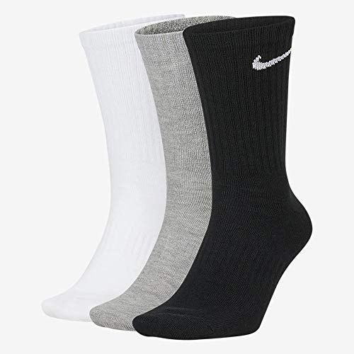 Nike Everyday Lightweight Crew Trainings Socks (3 Pairs), Calcetines Hombre, Multicolor, 38–42 (Talla del fabricante: M)