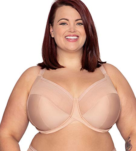 Curvy Kate Women's Wonderfull 4 Part Full Cup Bra CK1812 46DD Latte