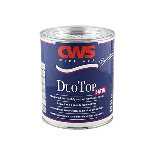 CWS CD-Color Duo Top Lack satin weiss 0,75L, Seidenglänzender Allroundlack auf Alkyd-Silikon-Basis. Lösemittelbasiertes Ein-Topf-System zur Grund- und Decklackierung im Innen- und Außenbereich.