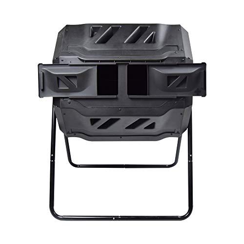 SQUEEZE master Doppel Kammer Kompost Tumbler Bin, Bessere Luftzirkulation Effizienter Komposter,Rotierendes Tumbling Komposter Bin für Garten, 160L...