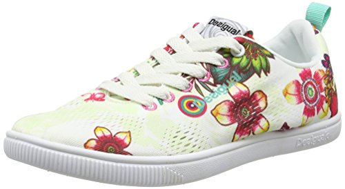 Desigual Shoes_Fun Eva T, Baskets Basses Femme, Beige 1013, 37 EU