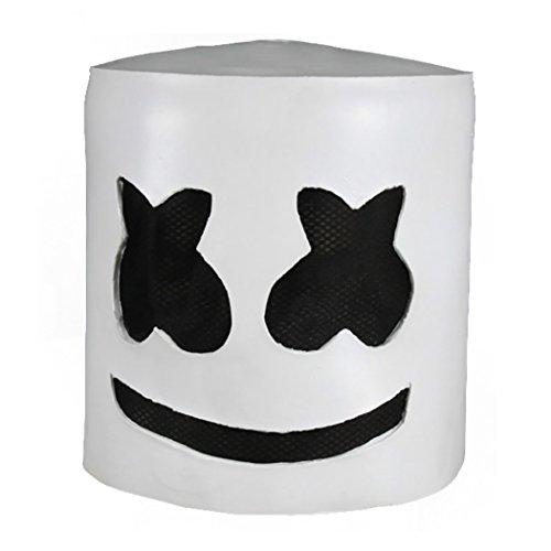 FunPa DJ-masker met muziek, hoofdmasker voor cosplay-kostuum, creatief design, latex hoofdmasker voor maskerade