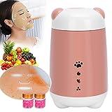 120 ml Máquina de mascarilla facial multifuncional, Máquina para hacer mascarillas faciales de frutas y verduras con accesorios, Mascarilla de belleza para el cuidado personal(Rosado)