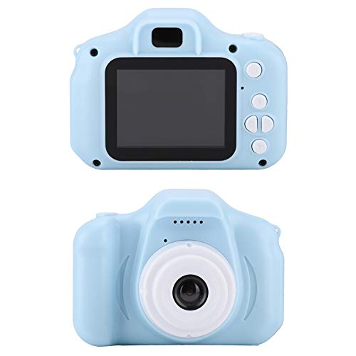 Okuyonic Cámara de Video para Niños, Rentable Mini Portátil de 2.0 Pulgadas 1080P Cámara para Niños Función de Foto/Video Divertida Y Práctica para Regalo para Niños(Azul)