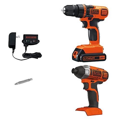 BLACK+DECKER 20V MAX Cordless Drill Combo Kit, 2-Tool (BD2KITCDDI)