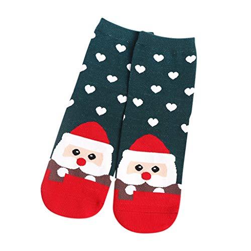 KPILP Weihnachtssocken Unisex Socken Weihnachten Festlicher Spaß Neuheit Mädchen Christmas Socks Drucken Herbst Winter Socken Weihnachten Geschenk 1 Paar
