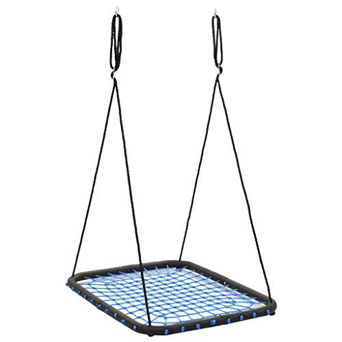 vidaXL Schaukel Nestschaukel Tellerschaukel Rundschaukel Kinderschaukel Gartenschaukel Kinder Garten 104x76 cm Belastbarkeit 200 kg Blau