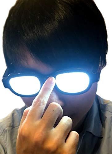 【ec-drive】光る メガネ LED 中2病 コナン コスプレ 探偵 工藤新一 おもしろグッツ おもしろグッズ