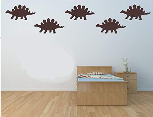 20 x Stegosaurus Dinosaurier geformte Vinylaufkleber. Haus, Möbel, Fenster, Spiegel, Laptop, Autodekor. Basteln, Scrapbooking, Karten machen.