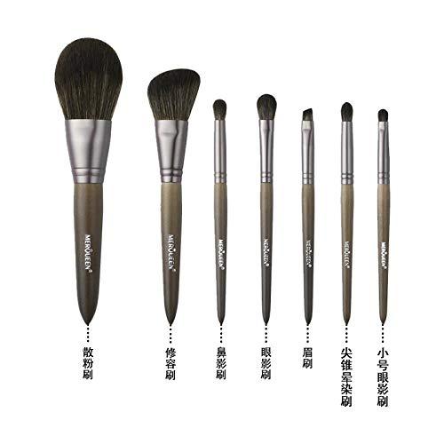 Pinceau De Maquillage Set Foundation Foundation Fard À Paupières Brush Tool Wool, 7 Brushes F