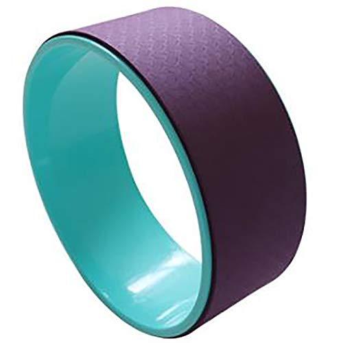 Rueda de Yoga Anillo de Ayuda de Yoga Ring Pilates Anillo de Fitness Apto para el hogar Indoor Yoga Wheel Fitness Products Círculo de Yoga (Color : Deep Purple, Size : 12x32cm)