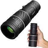 FMOGE Telescopio monocular con Zoom óptico 16x52, telescopio monocular de Viaje con visión Diurna y Nocturna, para observación de Aves/Vida Salvaje/Caza/Camping/Senderismo/Turismo /,Monoculares