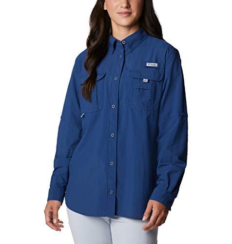 Columbia Damen PFG Bahama II Langarmshirt Atmungsaktiv UV-Schutz Carbon L