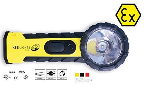 KSE-LIGHTS GmbH 8890 LED-Handlampe mit rechtwinkligen Leuchtkopf - ATEX 1G / M1 -Zulassung