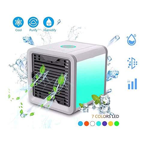 LCLLXB Mobile Klimagerät, Luftkühler mit Ventilator Klimaanlage Leise Luftbefeuchtung mit Wasserkühlung für Schlafzimmer,Büro,Auto