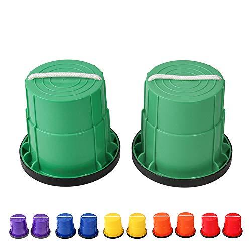 HAPPYMATY Zancos de plástico para niños, antideslizantes, con borde de goma, para correr, deportes infantiles, guarderías, etc. ⭐