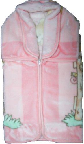 BabySac couverture bébé fille 3 en 1 - N°628 Oursons et ballons - Rose