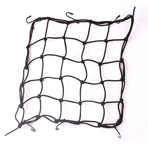 KAXYEW Motorcycle Cargo Net Bike Cargo Net in 15quotx15quot Heavy Duty Motorcycle Bungee Net with 6 Iron Hooks Luggage Helmet Net for ATV