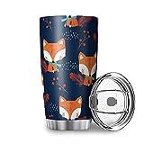Linda taza de agua de viaje de doble pared con tapa de acero inoxidable vaso simplicidad para oficina blanco 20 oz