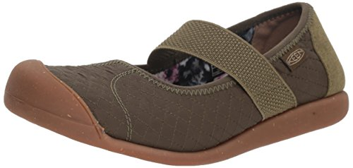 KEEN Women's Sienna MJ Quilted Mary Jane Flat, Martini Olive, 7 M US