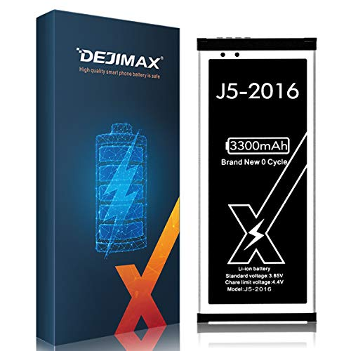 DEJIMAX Alta Capacidad 3300mAh Batería J5 para Samsung Galaxy J5-2016, 3300mAh Lithium...