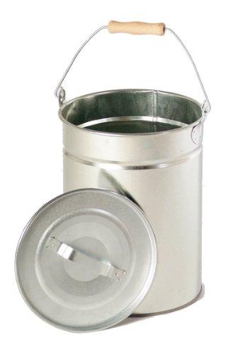 FIREFIX 1952/V1 2088 Mehrzweckeimer - Inhalt circa 14 Liter - mit Deckel und Holzgriff, Stahlblech verzinkt, 250 x 300 mm (øxH)