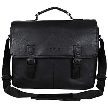"Kenneth Cole Reaction Modern Dilemma Pebbled Faux Leather Laptop & Tablet Business Case Travel Bag 15"" Laptop Portfolio"