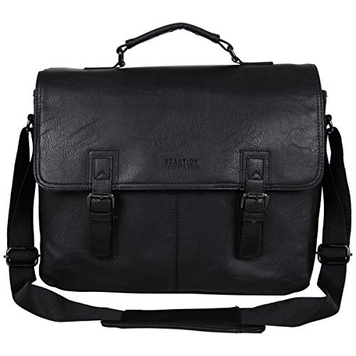 "Kenneth Cole Reaction Modern Dilemma Pebbled Faux Leather Laptop & Tablet Business Case Travel Bag, 15"" Laptop Portfolio"