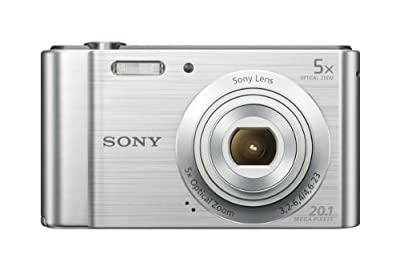 Sony (DSCW800) 20.1 MP Digital Camera (Silver) from