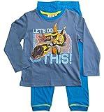 Transformers Schlafanzug Jungen Pyjama Lang (Blau, 98-104)