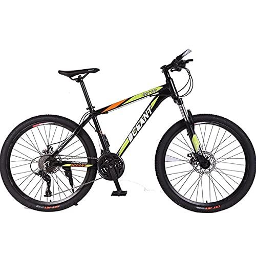 PBTRM Bicicleta Montaña MTB 26 Pulgadas 21 Velocidades para Hombres Y Mujeres, con Marco Acero Carbono Alta Resistencia con Frenos Doble Disco,Verde
