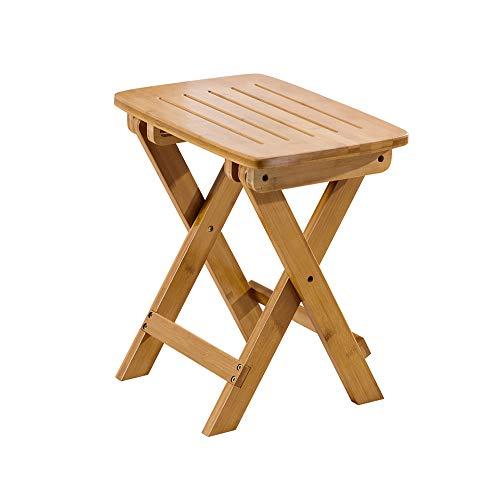 Folding Chairs Tabourets pliants Portable ménage en Bois Massif Chaise de Jardin extérieure Tabouret à Langer Petit Banc Maza Installation Gratuite, Pliable, Robuste
