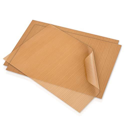 GOURMEO Dauerbackfolie, 3er Set, 32 x 46 cm, zuschneidbar und spülmaschinenfest – wiederverwendbares Backpapier