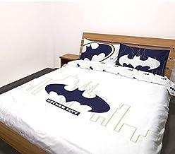 Warner Bros - Housse de Couette Batman Chic City, Blanc, 220x240cm, 2 Personnes, 100% Coton, Edition Limitee