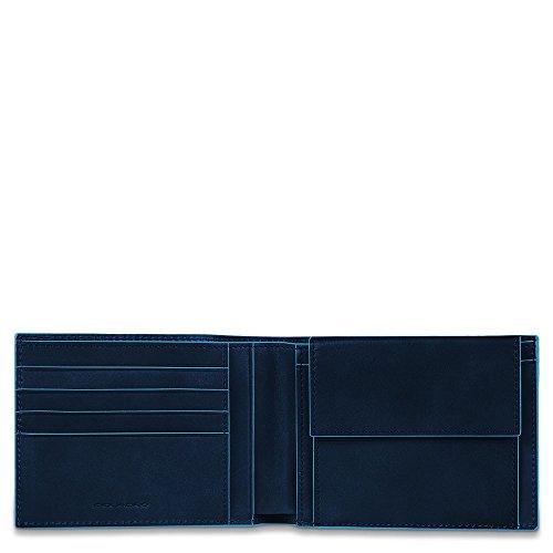 Piquadro Blue Square Portamonete con 4 Alloggiamenti per Carte di Credito, 12 cm, 0.43 litri, Blu Notte