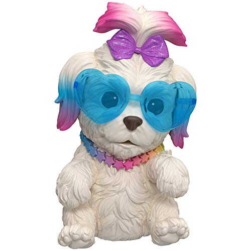 Little Live OMG Pets Have Talent - Soft Squishy Interactive Puppy That Comes to Life, Sings, Cries and Eats - Rainbow Pop