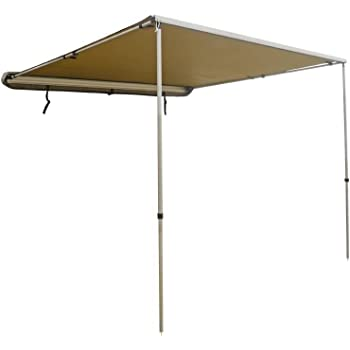 Dobinsons 4x4 Roll Out Awning 4.6FT x 6.5FT Small Size, Includes Brackets and Hardware