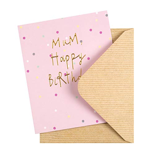 Birthday Card for Mum from The Hallmark Studio - Embossed Text Design