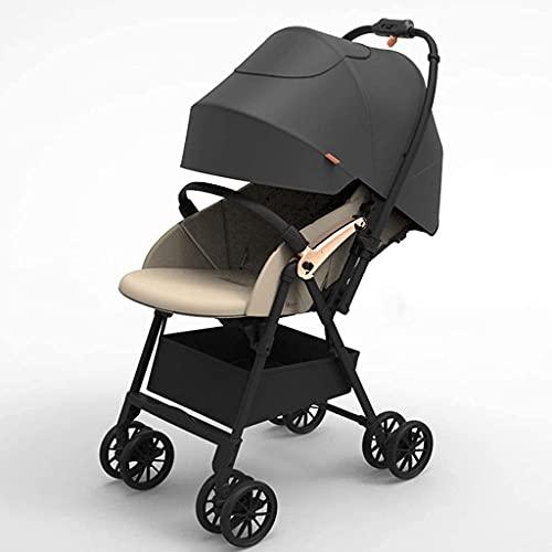 Duwen Cochecito portátil plegable, cochecito de nido |Cochecito de bebé con el asiento reversible ajustable de altura, el modo Bassinet, el almacenamiento extra grande, el pliegue de pie y el marco de